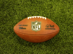 New NFL balls used during the workout.