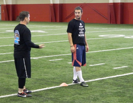 Jeremy Shelley and Coach Jackson working out on Feb. 16, 2013.
