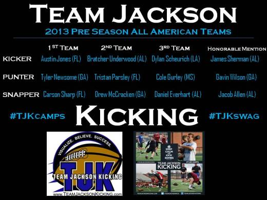 2013 TJK Pre Season All Americans