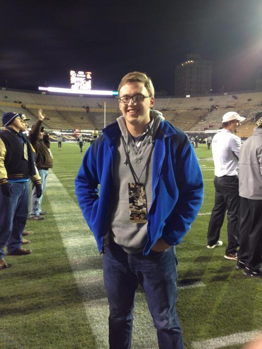 Tucker Smith on his visit at Colorado