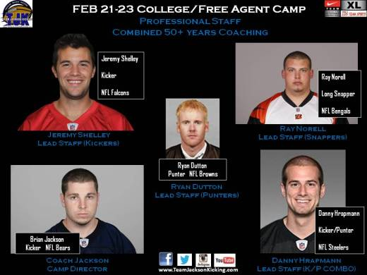 NFL Caliber Staff for the FEB Camp