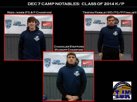 Class of 2014 K/P showed very well at this camp.