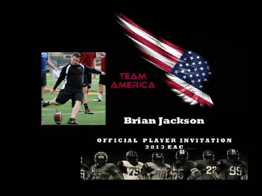 USA Kicker Brian Jackson