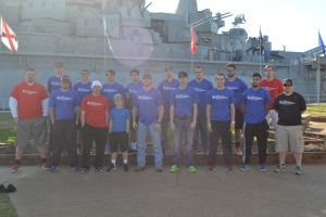 Staff and Players touring the USS Alabama Battleship