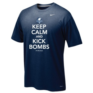 TJK Keep Calm Kick Bombs