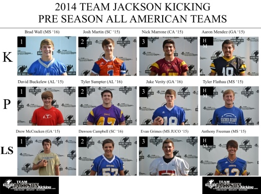 2014 TJK PRE SEASON ALL AMERICAN TEAMS