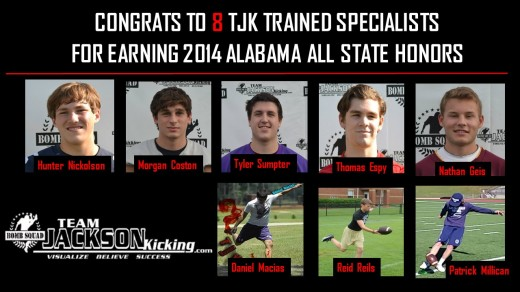 Congrats to these 8 TJK Trained specialists for earning All State Honors.
